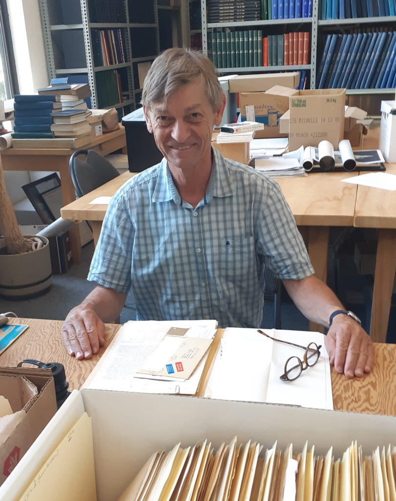 Bernhard Thiessen researching at the Archives in July, 2019