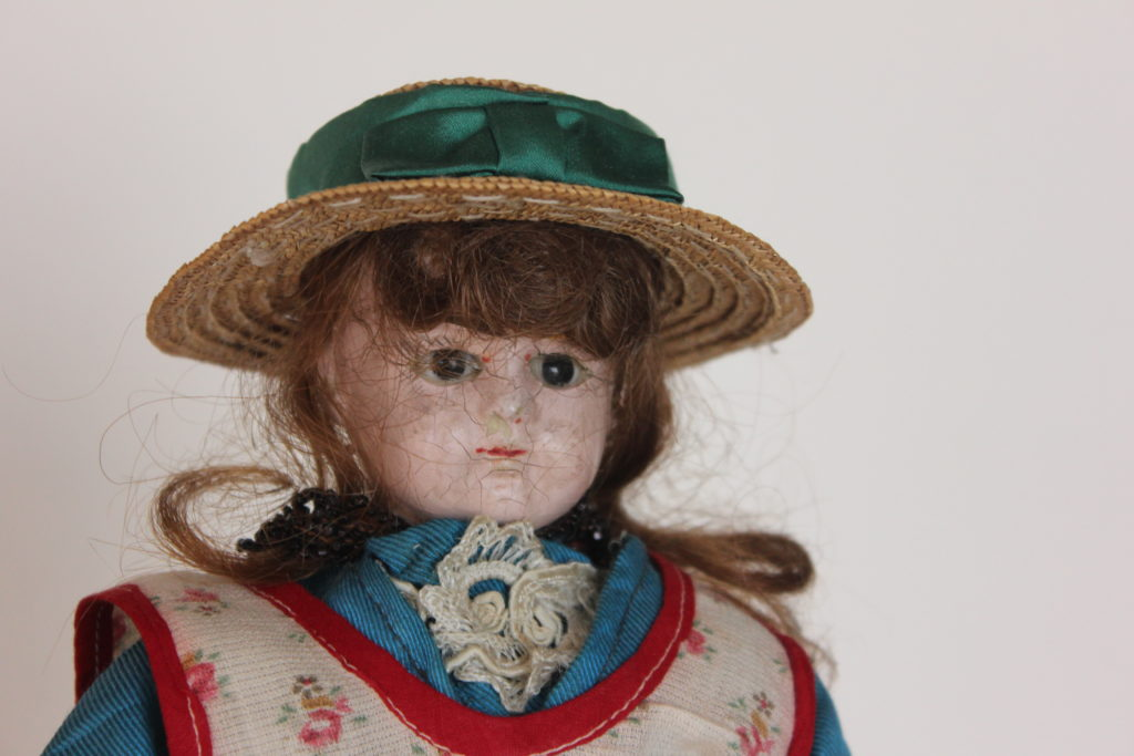 Close up of Doll from Johannes Dyck's Collection