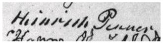 Photo 3: My ancestor, Heinrich Penner (1778-1870) of Kronsthal, Chortitza colony, signed a village agreement (Gemeinde Spruch) in 1870.7
