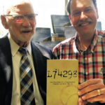 "Gordon Toombs, left, was deceived by the Canadian military when he tried to register as a conscientious objector during the Second World War. His recent book, ""L74298: Recollections of a Conscientious Objector in World War II,"" is dedicated to Conrad Stoesz, right, archivist at Winnipeg's Mennonite Heritage Archives, in gratitude for revealing the deception."