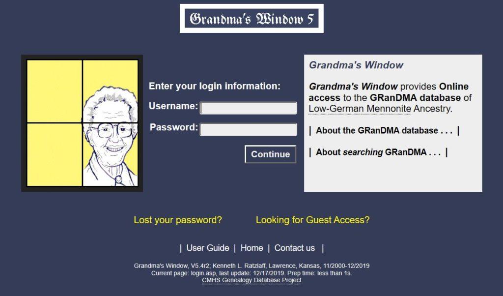 Screenshot of Grandma's Window