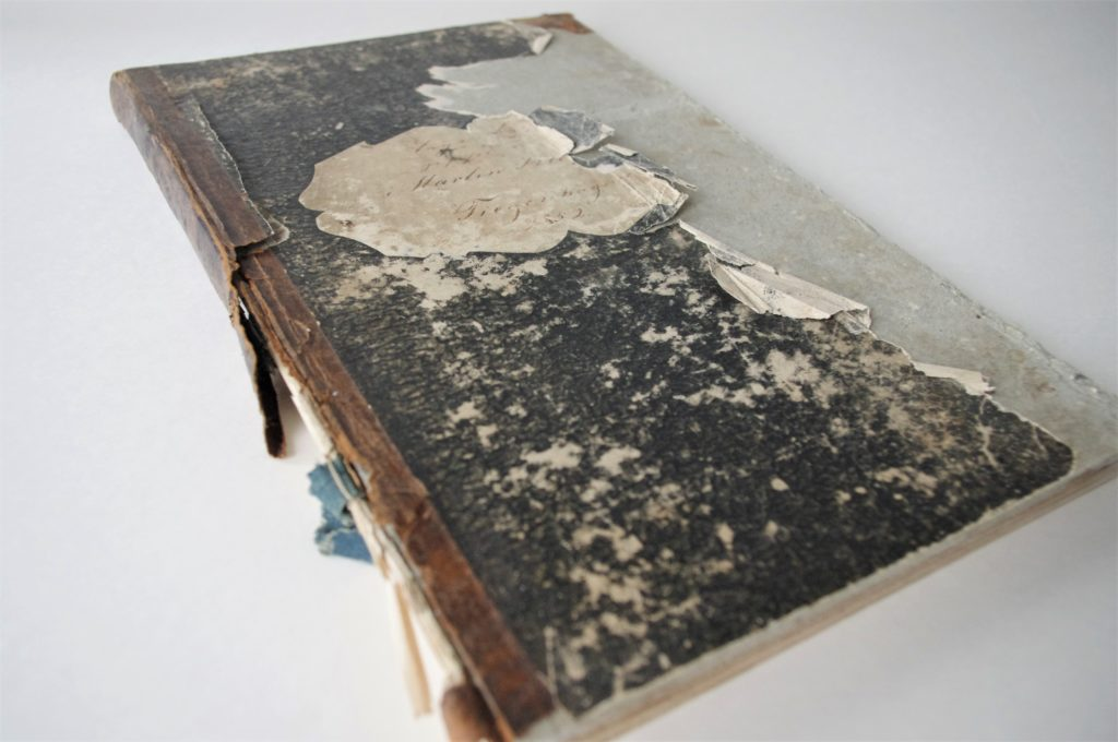 tatered cover of Martin Klaassen's Diary