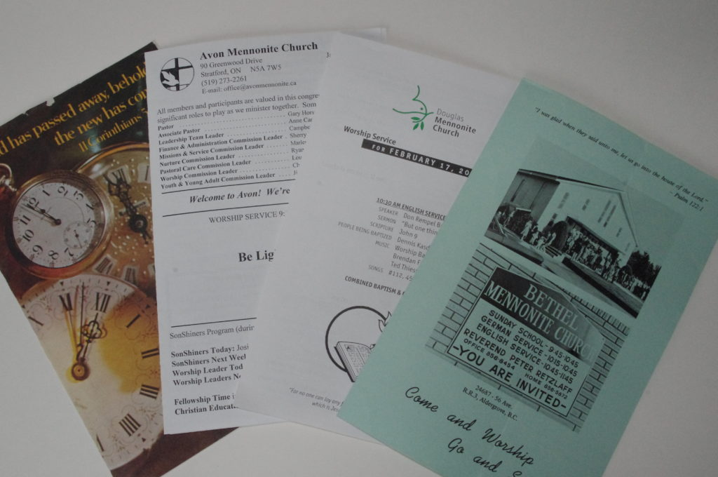 An example of bulletins held at the archives.